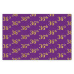[ Thumbnail: Purple, Faux Gold 36th (Thirty-Sixth) Event Tissue Paper ]