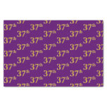 [ Thumbnail: Purple, Faux Gold 37th (Thirty-Seventh) Event Tissue Paper ]
