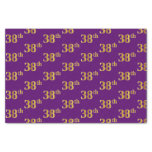 [ Thumbnail: Purple, Faux Gold 38th (Thirty-Eighth) Event Tissue Paper ]