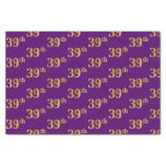 [ Thumbnail: Purple, Faux Gold 39th (Thirty-Ninth) Event Tissue Paper ]