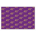 [ Thumbnail: Purple, Faux Gold 41st (Forty-First) Event Tissue Paper ]