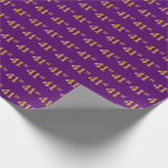 [ Thumbnail: Purple, Faux Gold 41st (Forty-First) Event Wrapping Paper ]