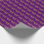 [ Thumbnail: Purple, Faux Gold 43rd (Forty-Third) Event Wrapping Paper ]