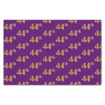[ Thumbnail: Purple, Faux Gold 44th (Forty-Fourth) Event Tissue Paper ]