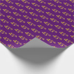 [ Thumbnail: Purple, Faux Gold 45th (Forty-Fifth) Event Wrapping Paper ]
