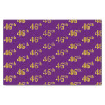 [ Thumbnail: Purple, Faux Gold 46th (Forty-Sixth) Event Tissue Paper ]