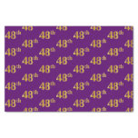 [ Thumbnail: Purple, Faux Gold 48th (Forty-Eighth) Event Tissue Paper ]