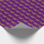 [ Thumbnail: Purple, Faux Gold 48th (Forty-Eighth) Event Wrapping Paper ]