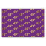 [ Thumbnail: Purple, Faux Gold 49th (Forty-Ninth) Event Tissue Paper ]