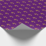 [ Thumbnail: Purple, Faux Gold 4th (Fourth) Event Wrapping Paper ]