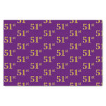 [ Thumbnail: Purple, Faux Gold 51st (Fifty-First) Event Tissue Paper ]