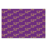 [ Thumbnail: Purple, Faux Gold 52nd (Fifty-Second) Event Tissue Paper ]