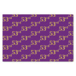 [ Thumbnail: Purple, Faux Gold 53rd (Fifty-Third) Event Tissue Paper ]