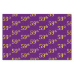 [ Thumbnail: Purple, Faux Gold 59th (Fifty-Ninth) Event Tissue Paper ]