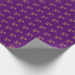 [ Thumbnail: Purple, Faux Gold 5th (Fifth) Event Wrapping Paper ]