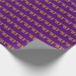 [ Thumbnail: Purple, Faux Gold 83rd (Eighty-Third) Event Wrapping Paper ]