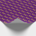 [ Thumbnail: Purple, Faux Gold 84th (Eighty-Fourth) Event Wrapping Paper ]