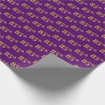 [ Thumbnail: Purple, Faux Gold 85th (Eighty-Fifth) Event Wrapping Paper ]