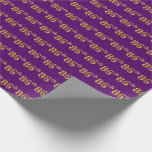 [ Thumbnail: Purple, Faux Gold 86th (Eighty-Sixth) Event Wrapping Paper ]