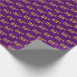 [ Thumbnail: Purple, Faux Gold 88th (Eighty-Eighth) Event Wrapping Paper ]