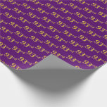 [ Thumbnail: Purple, Faux Gold 93rd (Ninety-Third) Event Wrapping Paper ]