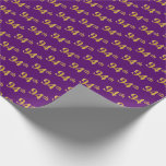 [ Thumbnail: Purple, Faux Gold 94th (Ninety-Fourth) Event Wrapping Paper ]