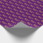 [ Thumbnail: Purple, Faux Gold 95th (Ninety-Fifth) Event Wrapping Paper ]