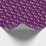 [ Thumbnail: Purple, Faux Gold 96th (Ninety-Sixth) Event Wrapping Paper ]