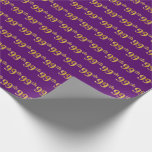 [ Thumbnail: Purple, Faux Gold 99th (Ninety-Ninth) Event Wrapping Paper ]