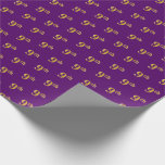 [ Thumbnail: Purple, Faux Gold 9th (Ninth) Event Wrapping Paper ]