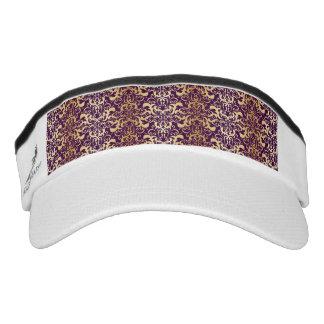 purple,faux,gold,damasks,vintage,antique,floral,pa visor