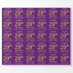"""[ Thumbnail: Purple, Faux Gold """"Happy 20th Birthday"""" Wrapping Paper ]"""