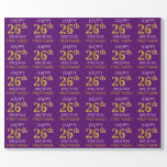 """[ Thumbnail: Purple, Faux Gold """"Happy 26th Birthday"""" Wrapping Paper ]"""