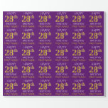 """[ Thumbnail: Purple, Faux Gold """"Happy 28th Birthday"""" Wrapping Paper ]"""