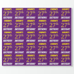 """[ Thumbnail: Purple, Faux/Imitation Gold, """"27th Birthday"""" Wrapping Paper ]"""