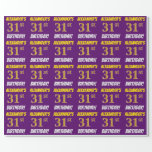 """[ Thumbnail: Purple, Faux/Imitation Gold, """"31st Birthday"""" Wrapping Paper ]"""