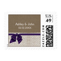 Purple FAUX lace and burlap stamps