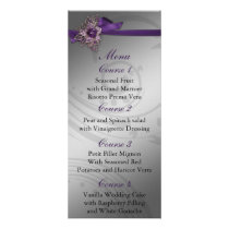 Purple FAUX ribbon vintage brooch Wedding Rack Card