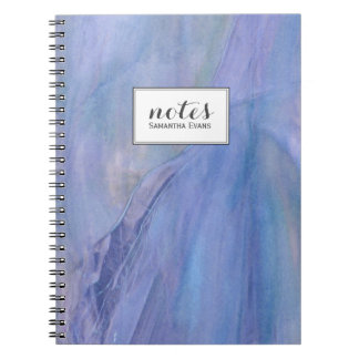 Purple Faux Stained Glass Personalized Watercolor Notebook