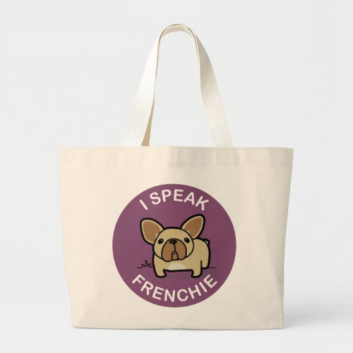 Purple Fawn I Speak Frenchie Bag