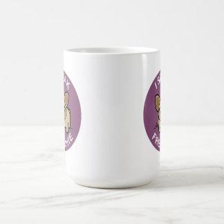 Purple Fawn I Speak Frenchie Coffee Mug