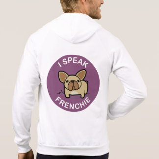 Purple Fawn I Speak Frenchie Double Sided Hoodie