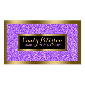 Purple business cards templates zazzle for Purple business cards