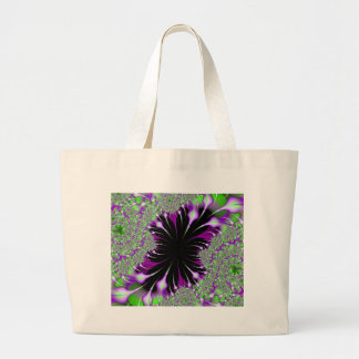 Purple Feathers Fractal Design Bag