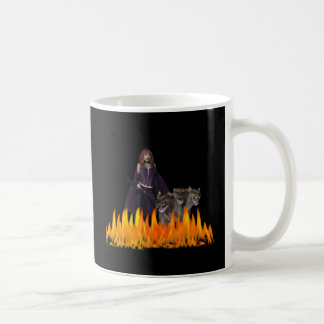 Purple Female Vampire Three head dog in Fire Classic White Coffee Mug