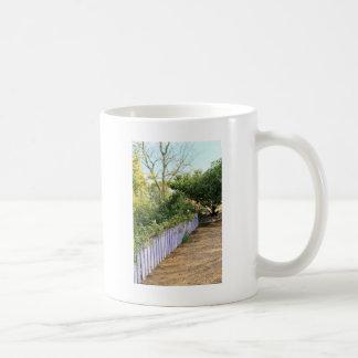 Purple Fence in the Garden Coffee Mug