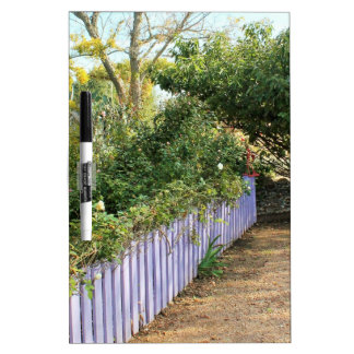 Purple Fence in the Garden Dry-Erase Board