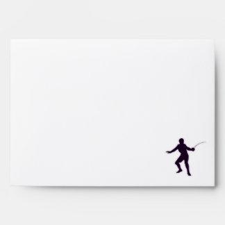 Purple Fencing Envelope