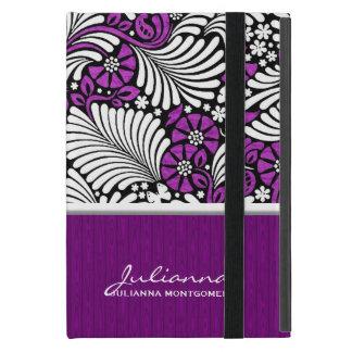 Purple Fern Print Mini Tablet Case Cases For iPad Mini