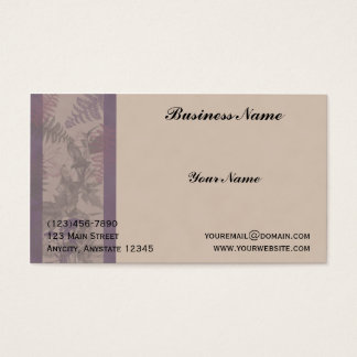 Purple Fern Riches Business Card